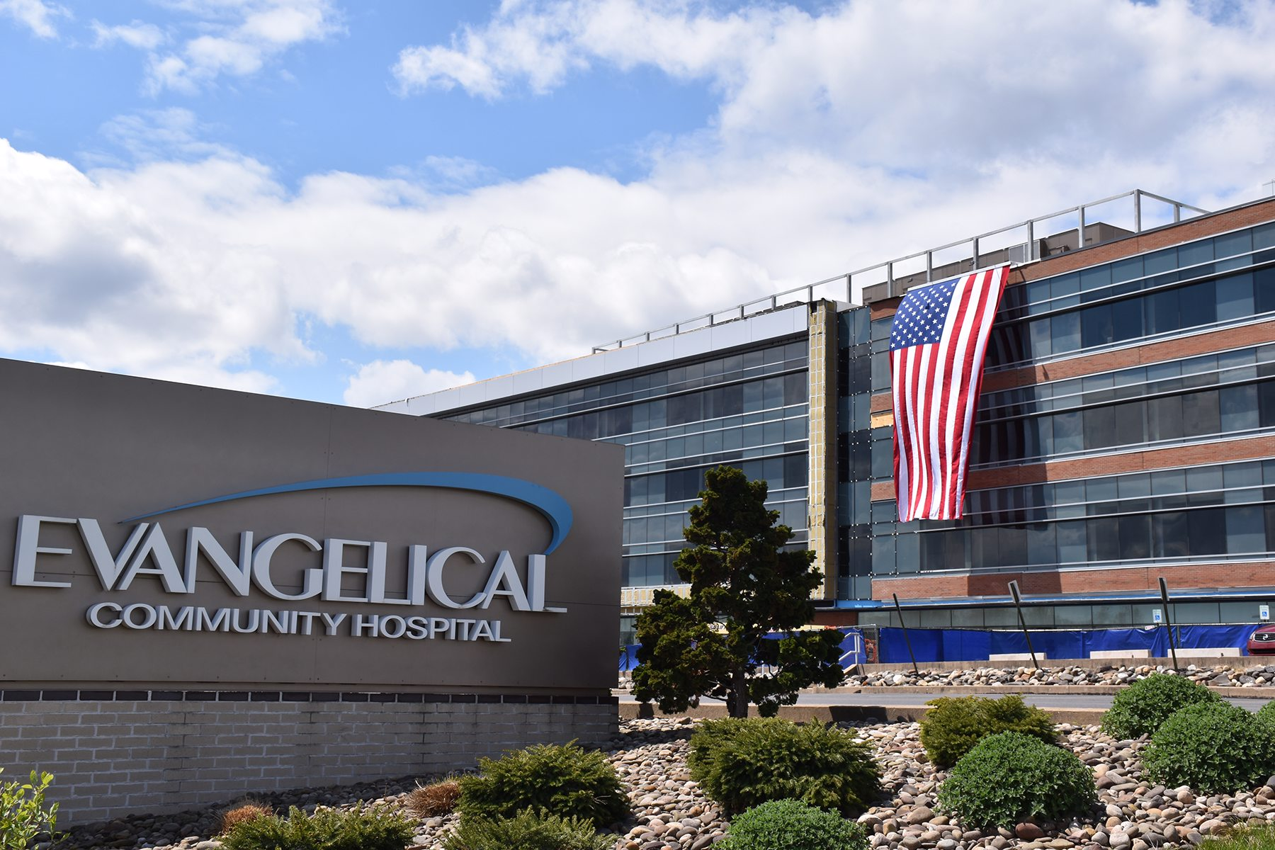 Evangelical Community Hospital Displays American Flag on the PRIME Project