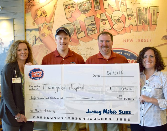 Jersey Mike's Raises Over $8,000 for Evangelical Community Health and Wellness