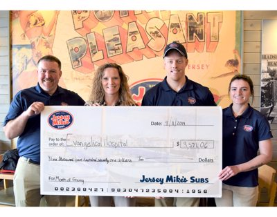 Jersey Mike's Raises Over $9,500 for Evangelical Community Health and Wellness