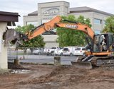 Demolition of Former Outpatient Services Building Takes Place at Evangelical Community Hospital