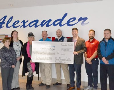 Blaise Alexander Buick, Cadillac, and GMC Donates Toward the Fight Against Breast Cancer