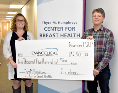 Carpetman of Milton Gets Personal with a Donation to the Thyra M. Humphreys Center for Breast Health